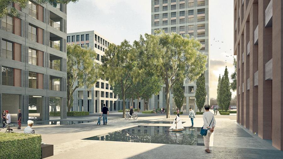 So stellen sich die Investoren das künftige Gretag-Areal in Regensdorf-Nord vor. (Bild: Nighturse)